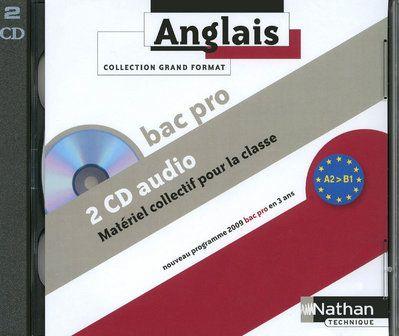 Anglais ; Bac Pro ; Niveau A2 A B1 ; 2 Cd Audio Collectifs