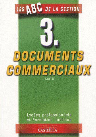 Documents Commerciaux ; Lycees Professionnels Et Formation Continue