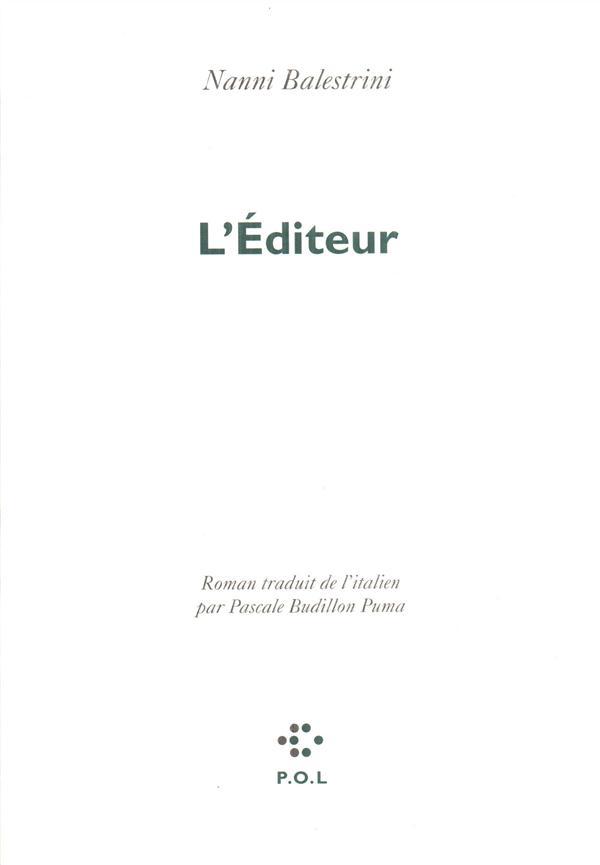 L'EDITEUR
