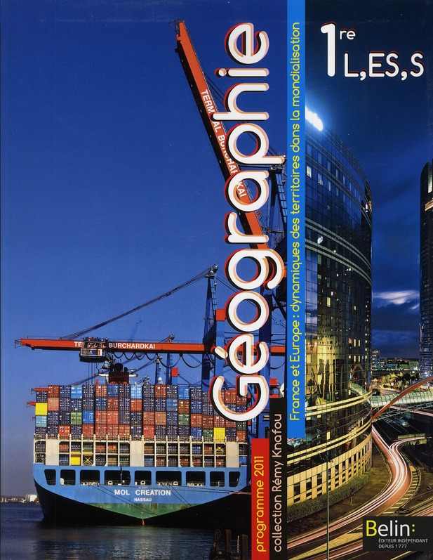 Geographie ; 1ere L Es S ; Livre De L'Eleve (Edition 2011)