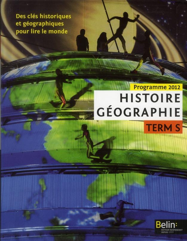 Histoire Geographie ; Terminale S Option ; Manuel De L'Eleve