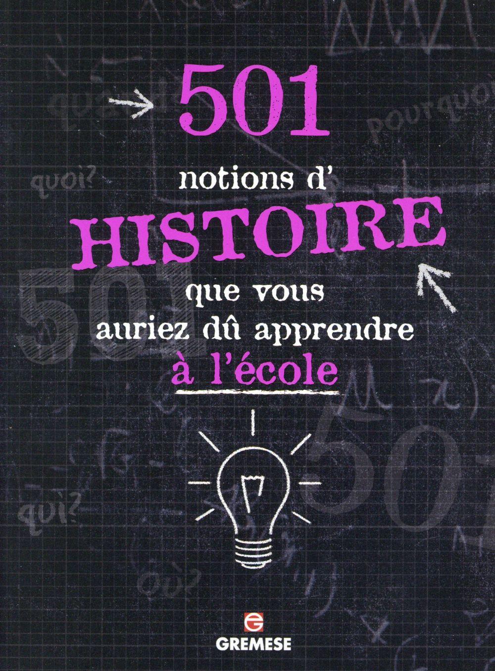 501 notions d'histoire que vous auriez du apprendre a l'ecole