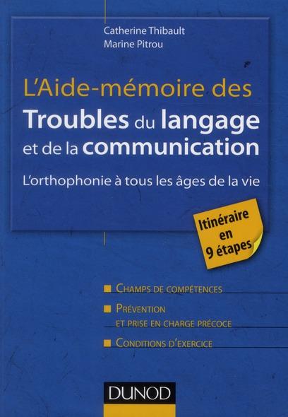 L'Aide-Memoire Des Troubles Du Langage Et De La Communication ; L'Orthophonie A Tous Les Ages De La Vie