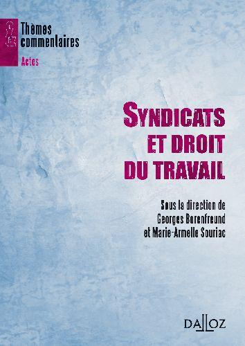 Syndicats Et Droit Du Travail - 1ere Edition