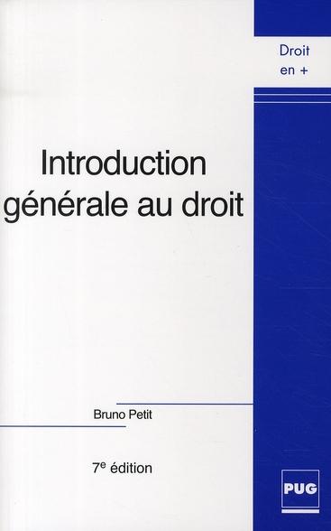 Introduction Generale Au Droit - Ned