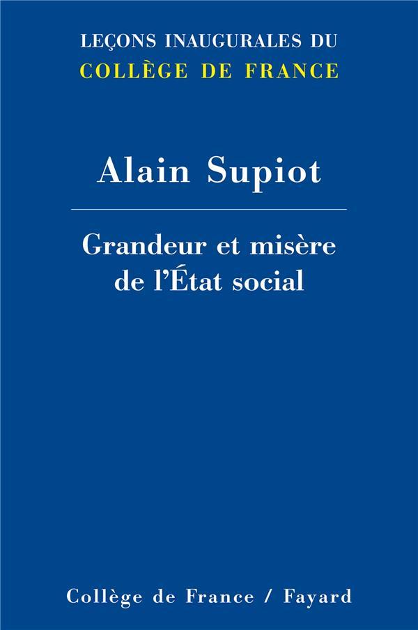 GRANDEUR ET MISERE DE L'ETAT SOCIAL