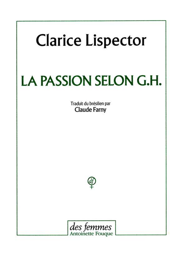 LA PASSION SELON G.H