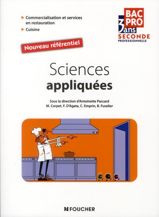 Bac Pro 3 Ans; Sciences Appliquees ; 2nde Professionnelle ; Commercialisation Et Services En Restauration ; Cuisine