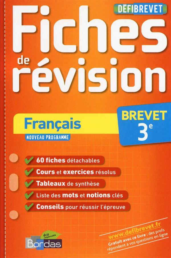 Francais ; 3eme ; Fiches De Revision