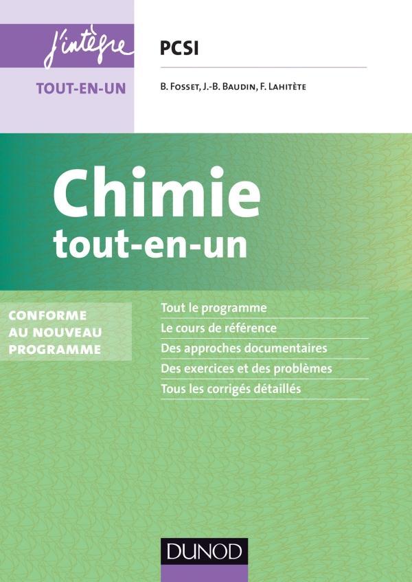 Chimie ; Pcsi ; Tout-En-Un (3e Edition)