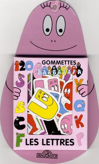 80 Gommettes Barbapapa ; Les Lettres