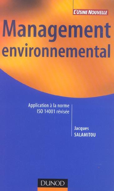 Management Environnemental - Application A La Norme Iso 14001 Revisee