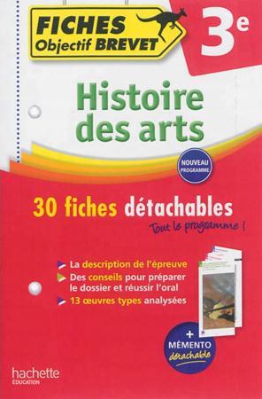 Histoire des arts ; fiches détachables