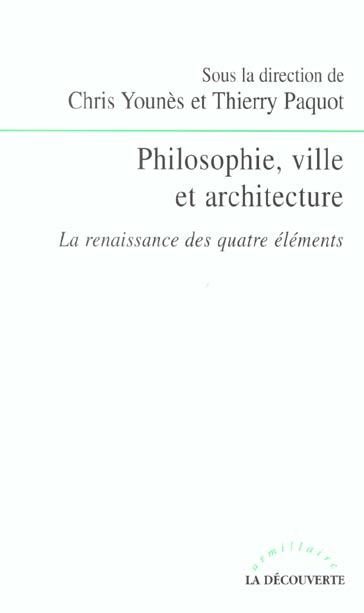 PHILOSOPHIE VILLE ET ARCHITECTURE