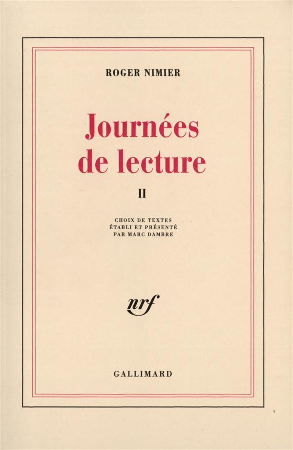 JOURNEES DE LECTURE II
