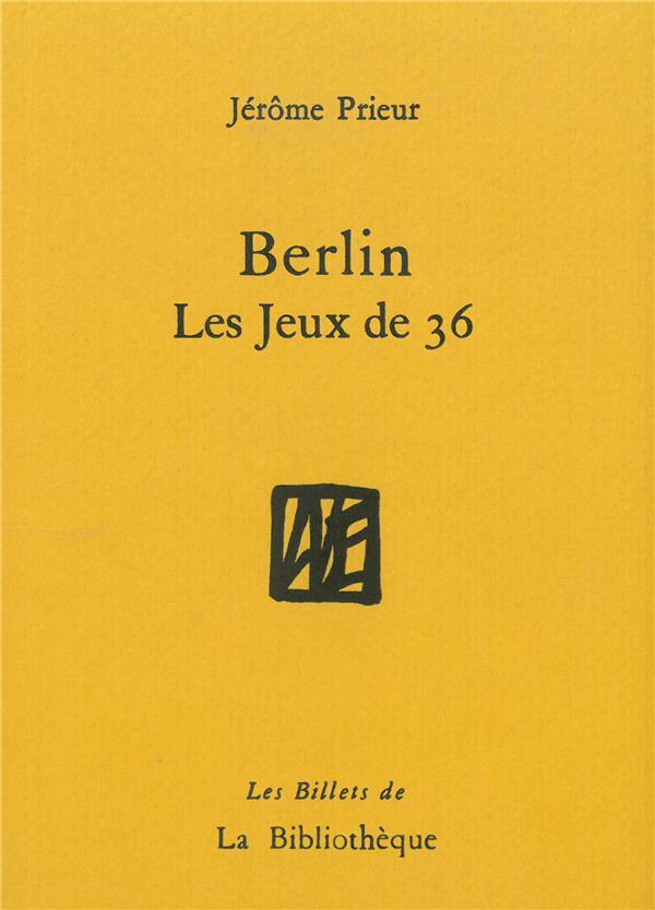 Berlin, les jeux de 36