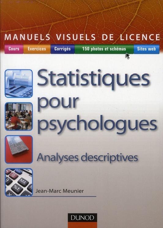 Manuel Visuel De Statistique Pour Psychologues