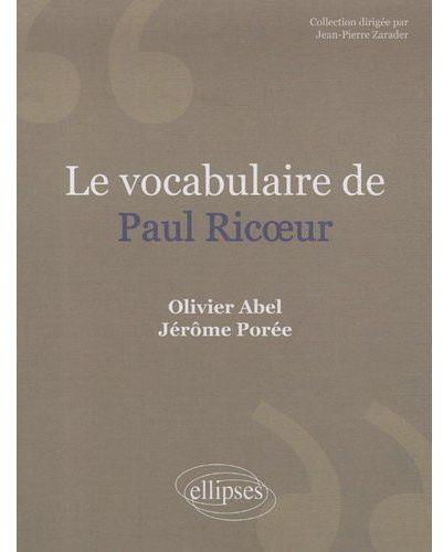 LE VOCABULAIRE DE PAUL RICOEUR