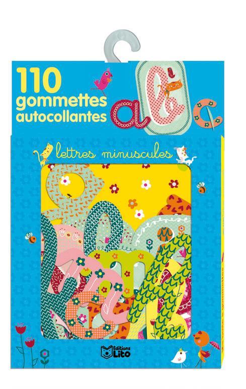 110 Gommettes Autocollantes : Les Lettres Minuscules