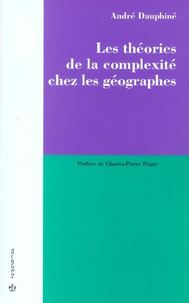 Les Theories De La Complexite En Geographie