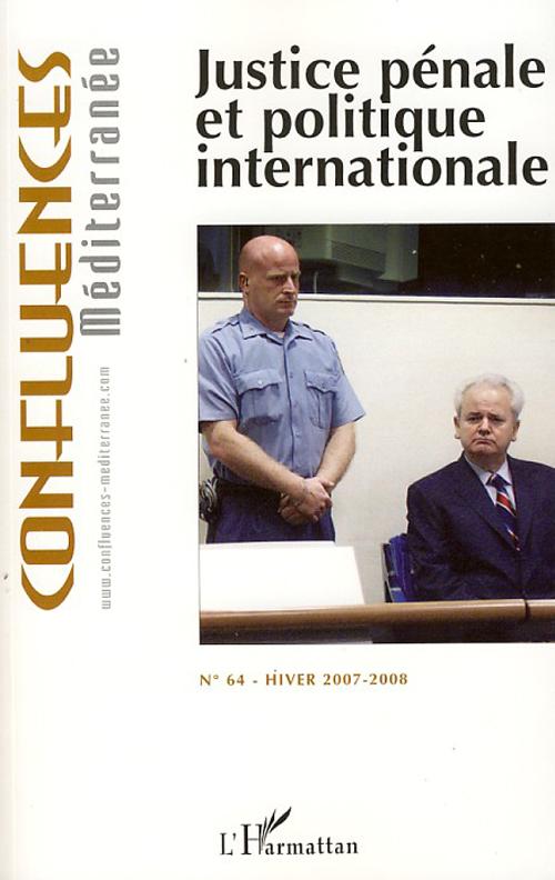 Justice Penale Et Politique Internationale