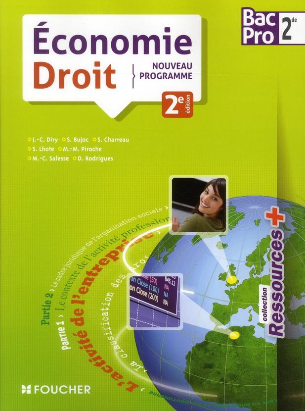 Ressources +; Economie-Droit ; 2nde Bac Pro (2e Edition)