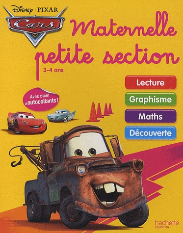 Cars ; Maternelle Petite Section ; Cahiers D'Exercices