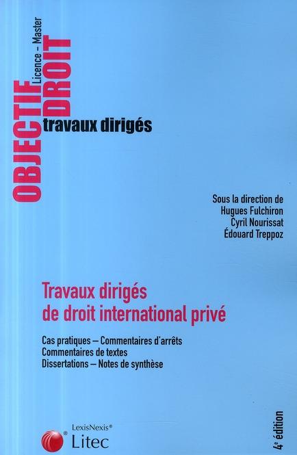 Travaux Diriges De Droit International Prive