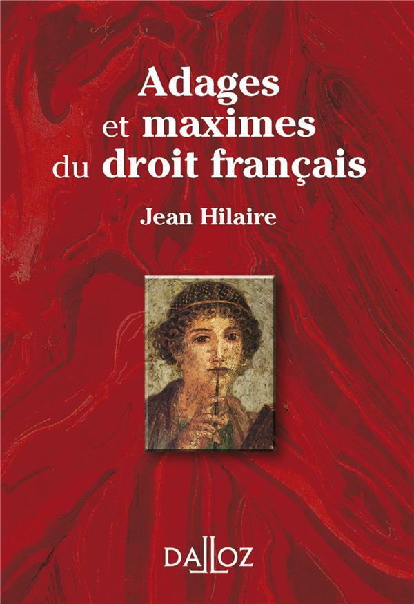 Adages Et Maximes Du Droit Francais