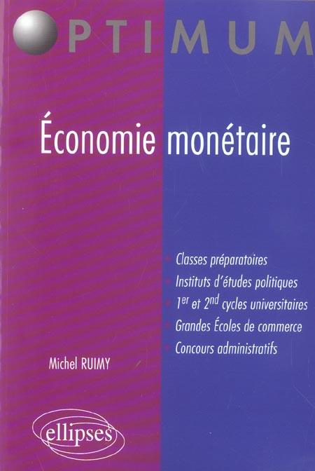 Economie Monetaire Prepa Commerciales Iep 1er Et 2e Cycles Universitaires Concours Administratifs