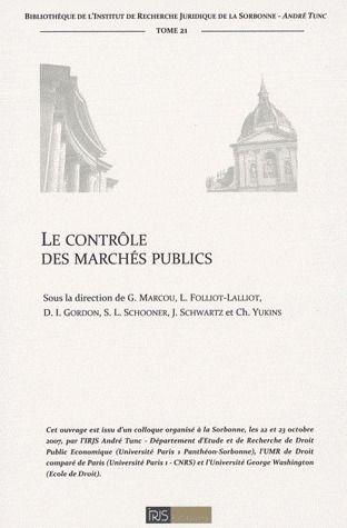 Le Controle Des Marches Publics