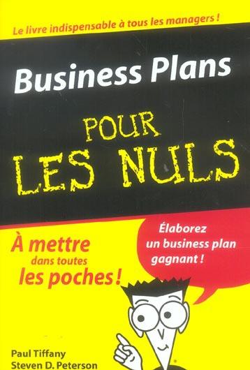 Business Plans Poche Pour Les Nuls