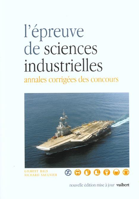 Epreuve De Sciences Industrielles 2eme Edition (L')