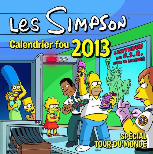 Les Simpson ; Calendrier 2013 ; Special Tour Du Monde