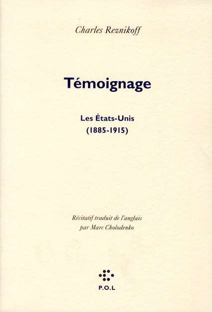 TEMOIGNAGE, LES ETATS-UNIS (1885-1915)