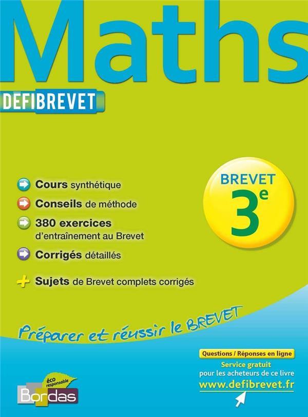 Mathematiques ; 3eme