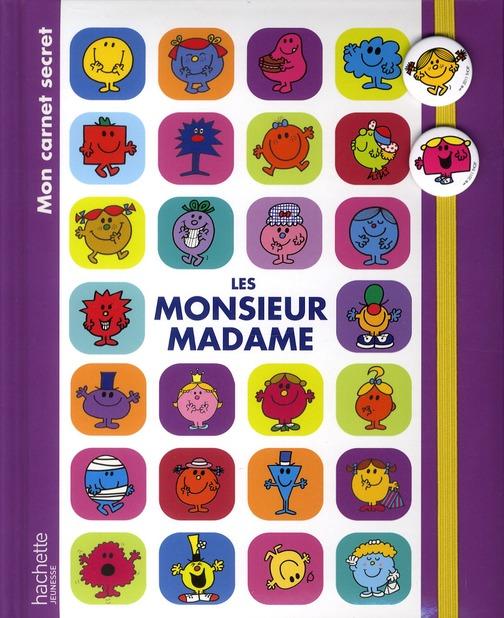 Mon Carnet De Secrets ; Monsieur Madame